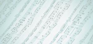 close up sheet music