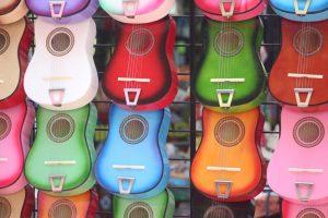 many ukuleles