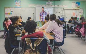 classroom teenagers