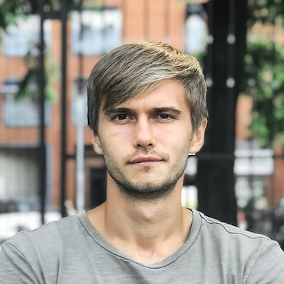 young man blond hair